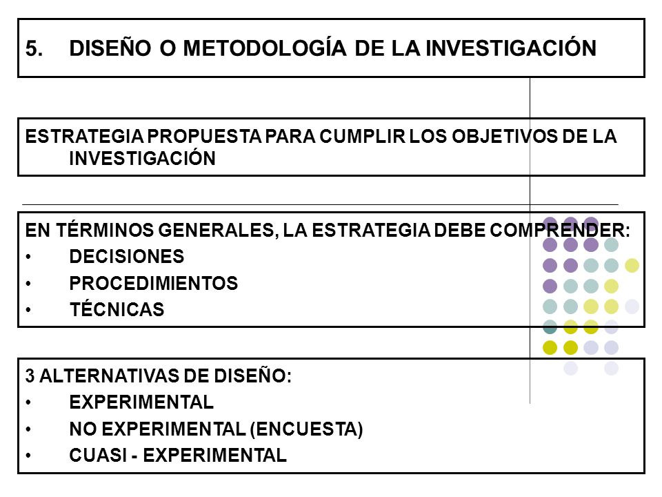 DISEÑO O METODOLOGÍA DE LA INVESTIGACIÓN