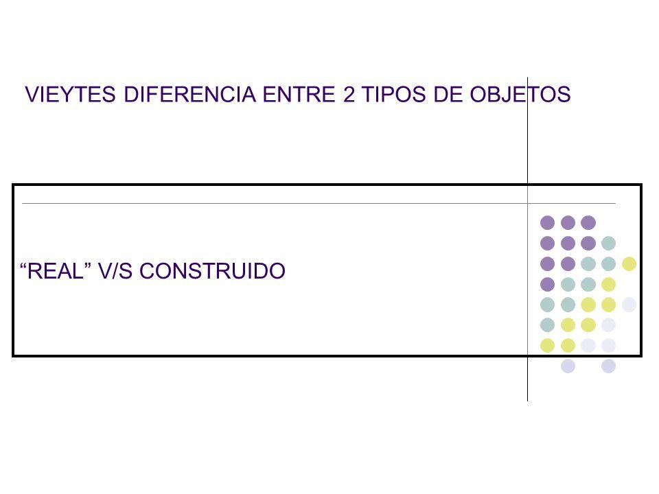 VIEYTES DIFERENCIA ENTRE 2 TIPOS DE OBJETOS