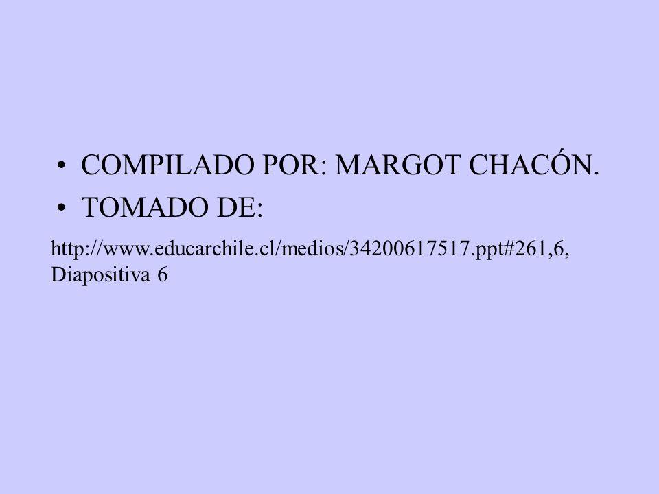 COMPILADO POR: MARGOT CHACÓN. TOMADO DE: