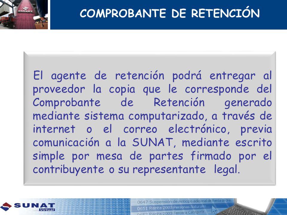 COMPROBANTE DE RETENCIÓN