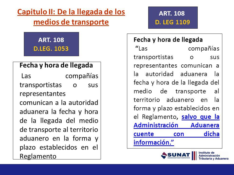 Capitulo II: De la llegada de los medios de transporte