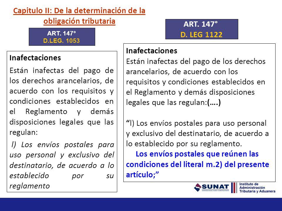 Capitulo II: De la determinación de la obligación tributaria