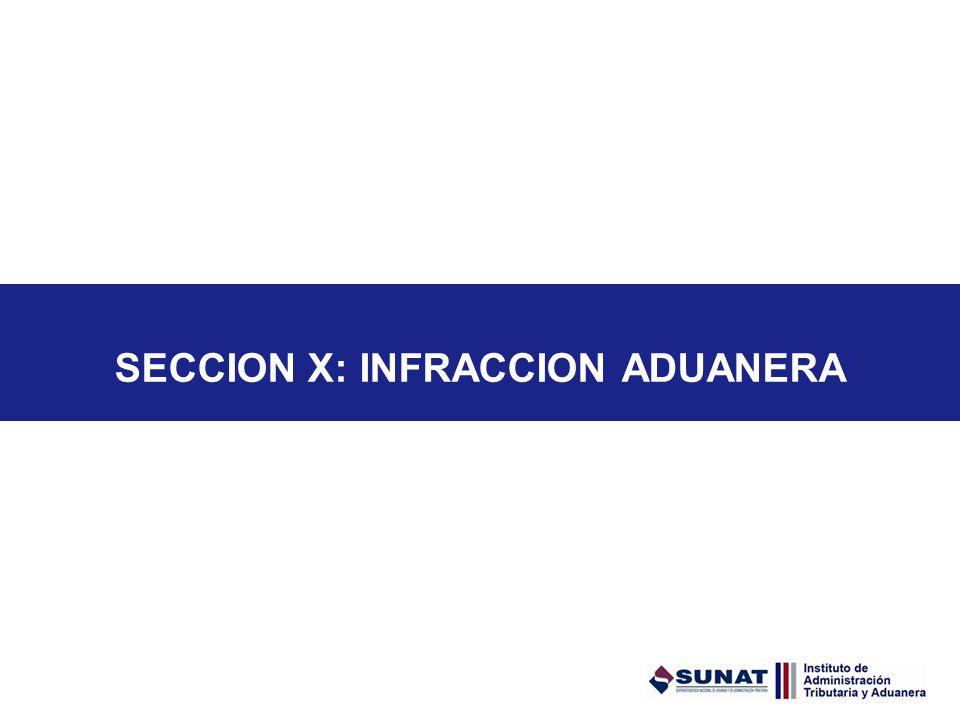 SECCION X: INFRACCION ADUANERA