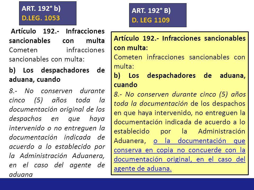 ART. 192° b) D.LEG. 1053. ART. 192° B) D. LEG 1109.