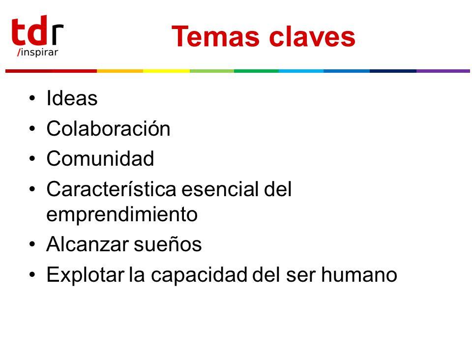 Temas claves Ideas Colaboración Comunidad
