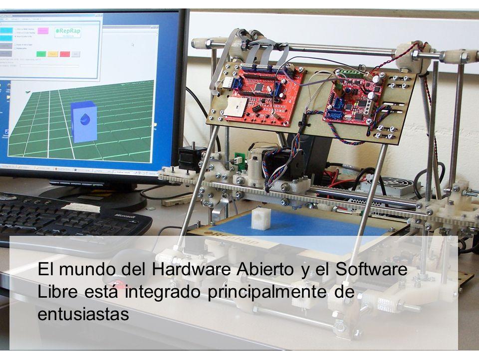 El mundo del Hardware Abierto y el Software Libre está integrado principalmente de entusiastas