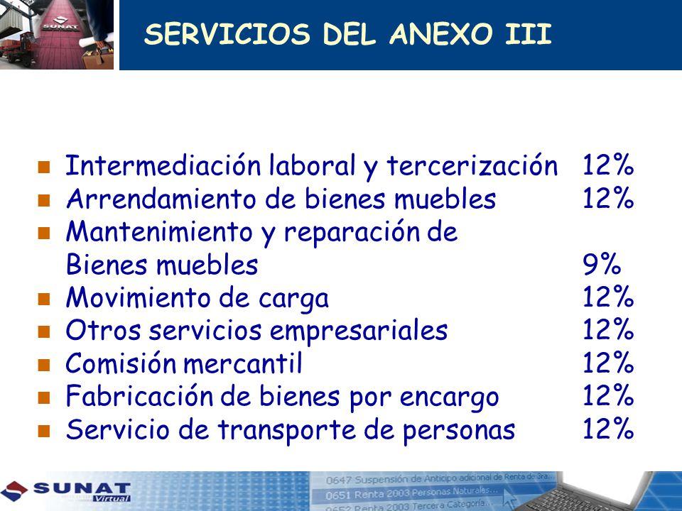 SERVICIOS DEL ANEXO III