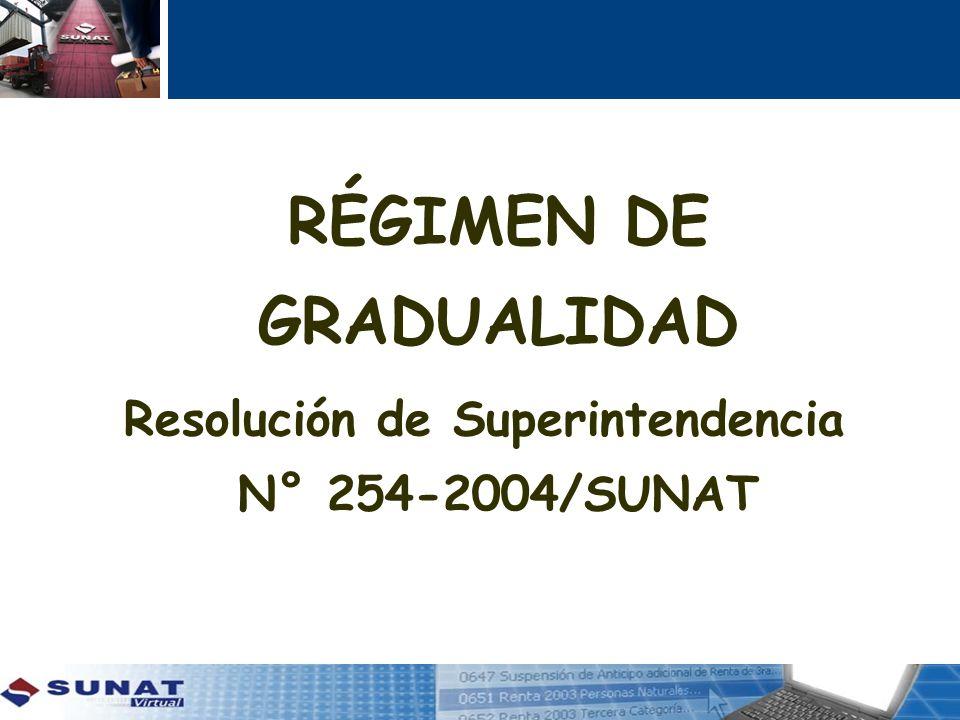Resolución de Superintendencia N° 254-2004/SUNAT