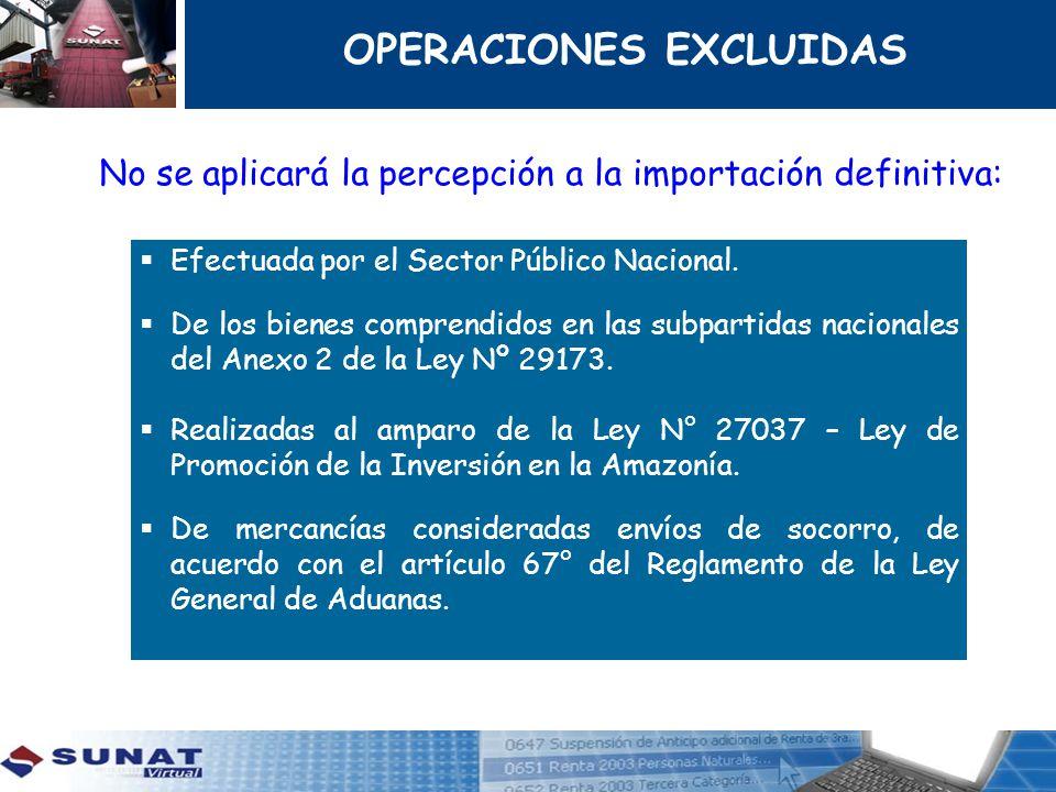 OPERACIONES EXCLUIDAS