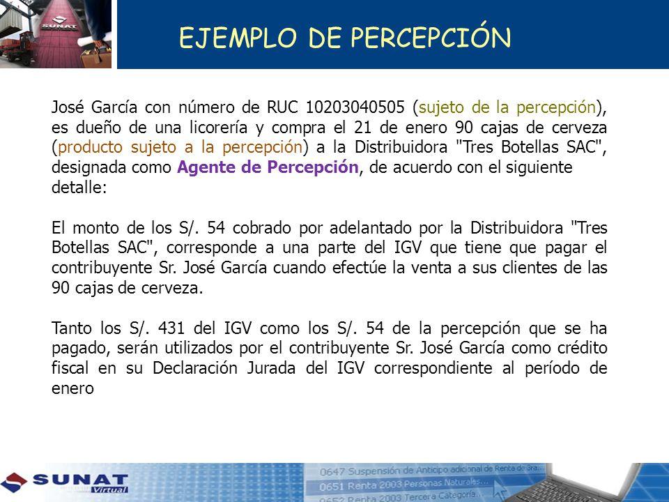 EJEMPLO DE PERCEPCIÓN