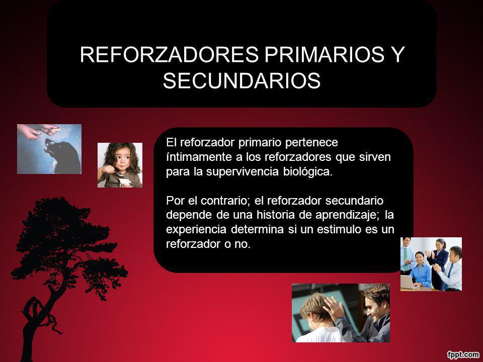 REFORZADORES PRIMARIOS Y SECUNDARIOS