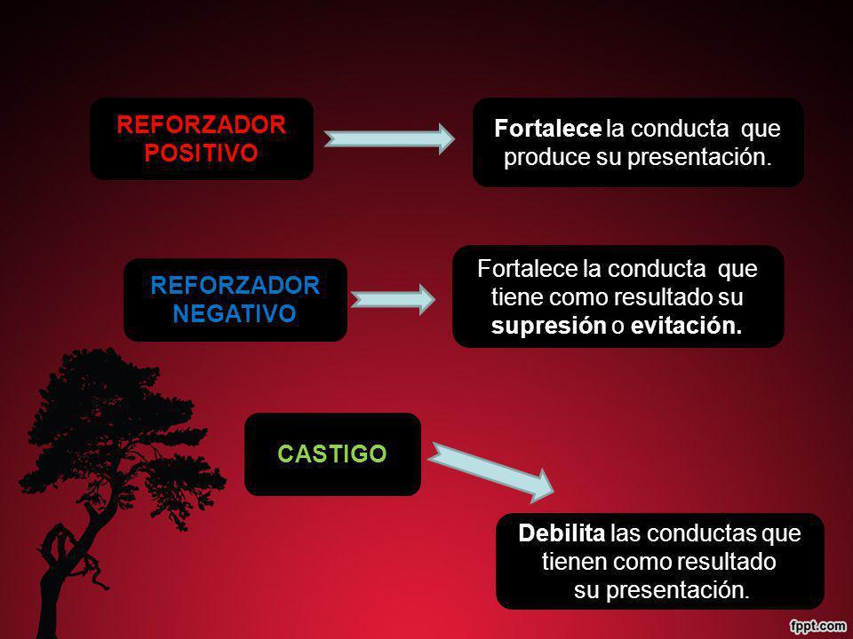 REFORZADOR POSITIVO REFORZADOR NEGATIVO CASTIGO