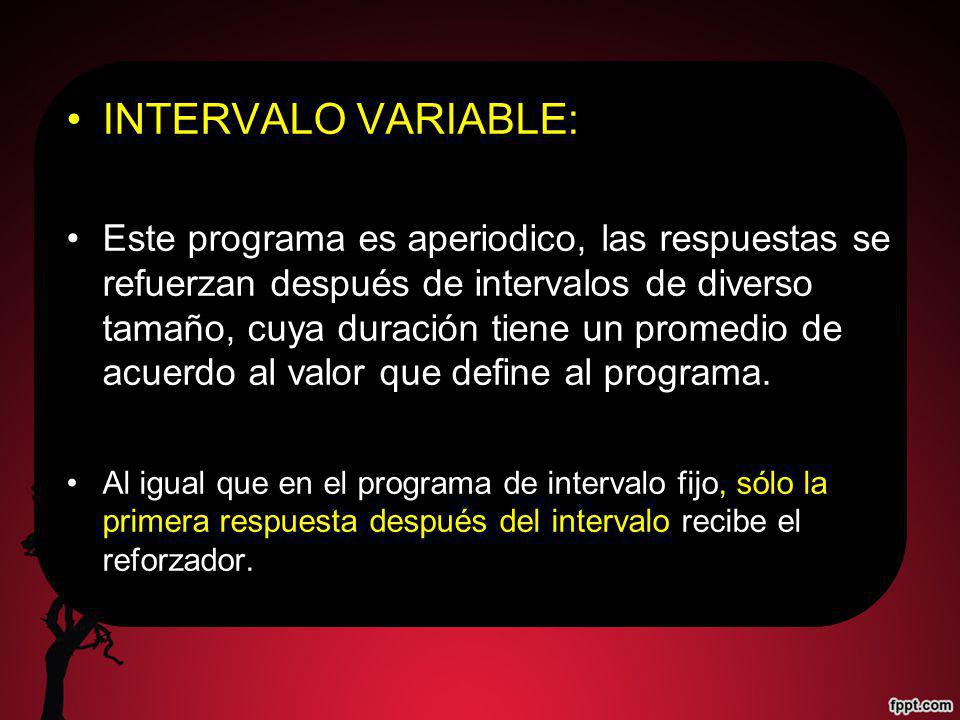 INTERVALO VARIABLE: