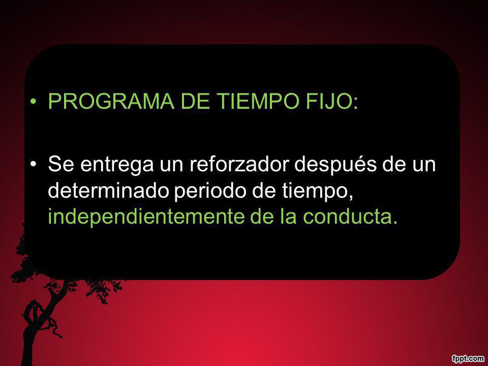 PROGRAMA DE TIEMPO FIJO: