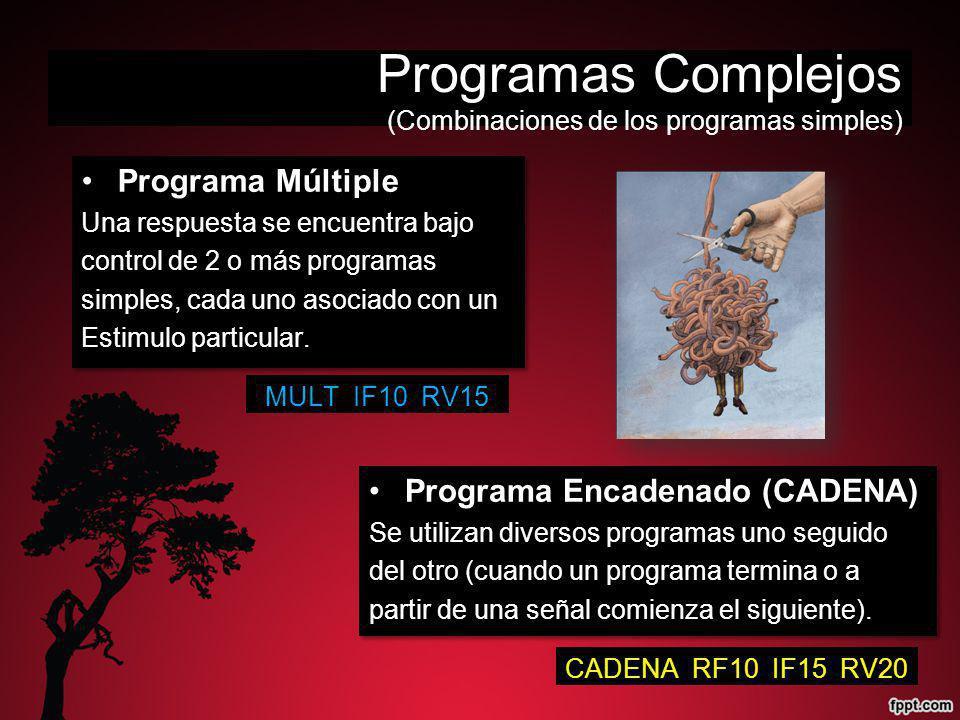 Programas Complejos (Combinaciones de los programas simples)
