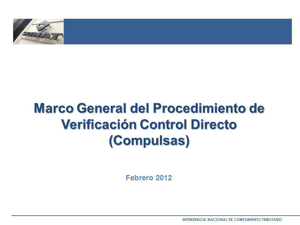 Marco General del Procedimiento de Verificación Control Directo (Compulsas)