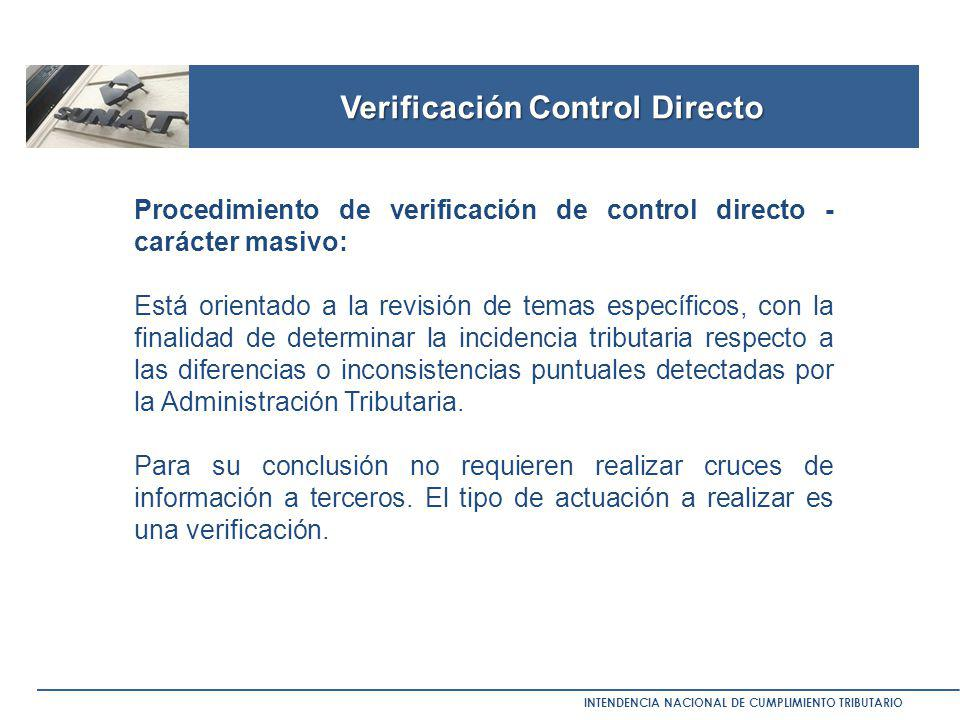 Verificación Control Directo