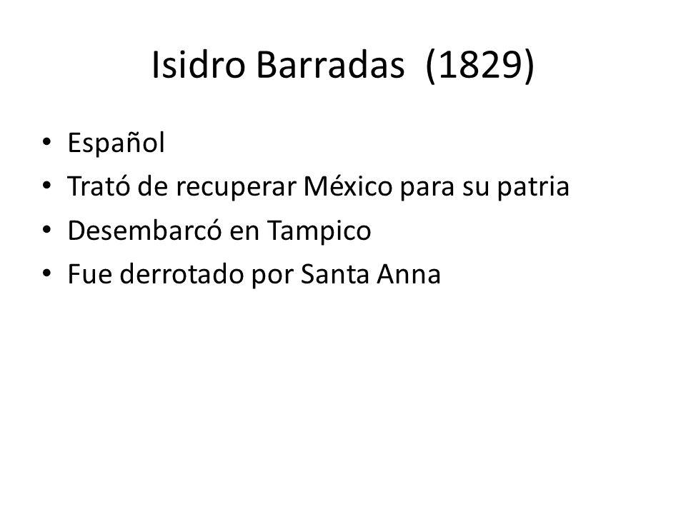 Isidro Barradas (1829) Español