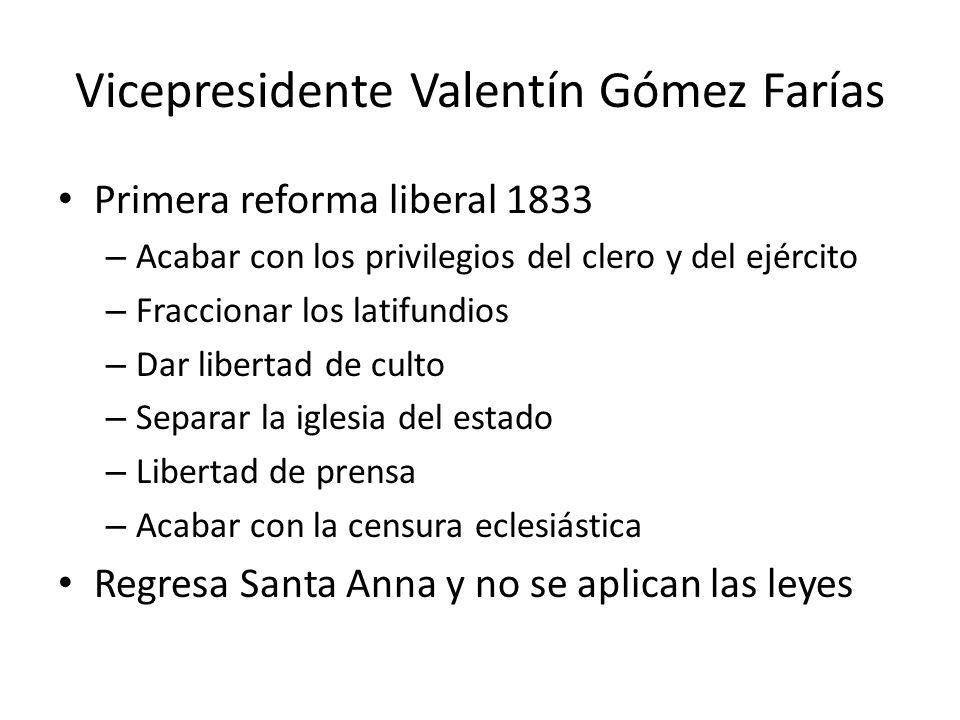 Vicepresidente Valentín Gómez Farías