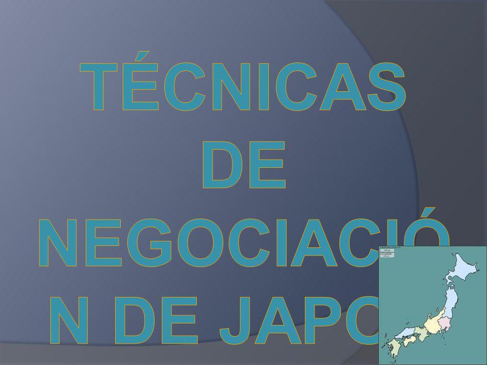 TÉCNICAS DE NEGOCIACIÓN DE JAPON