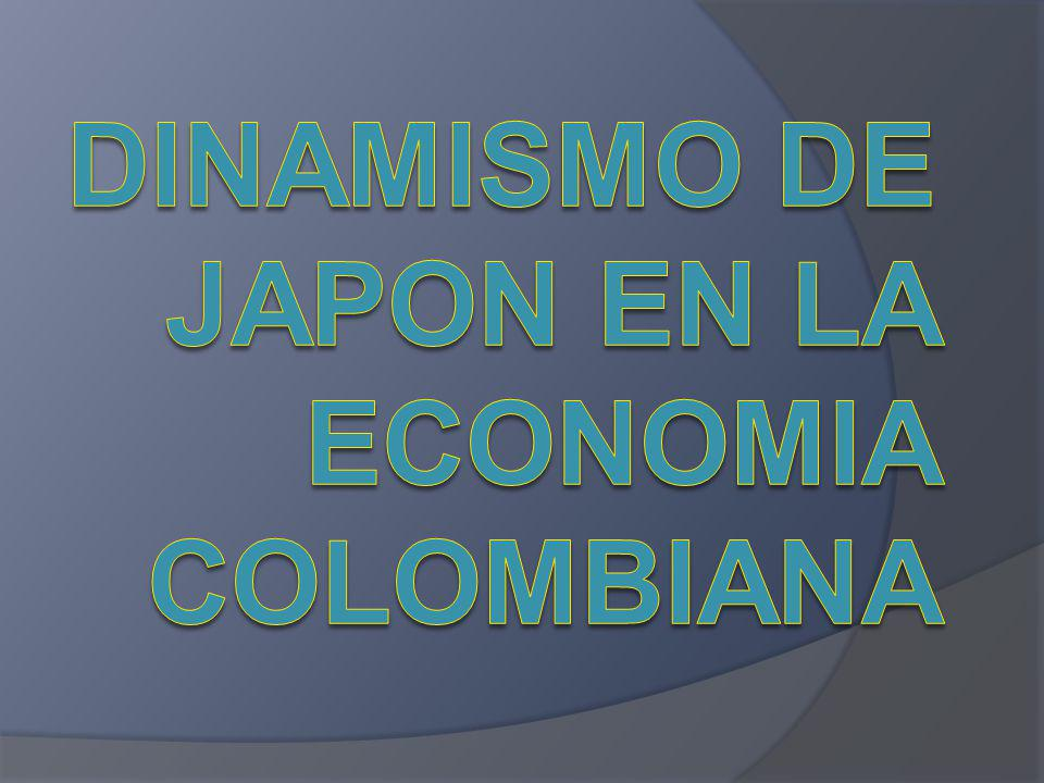DINAMISMO DE JAPON EN LA ECONOMIA COLOMBIANA