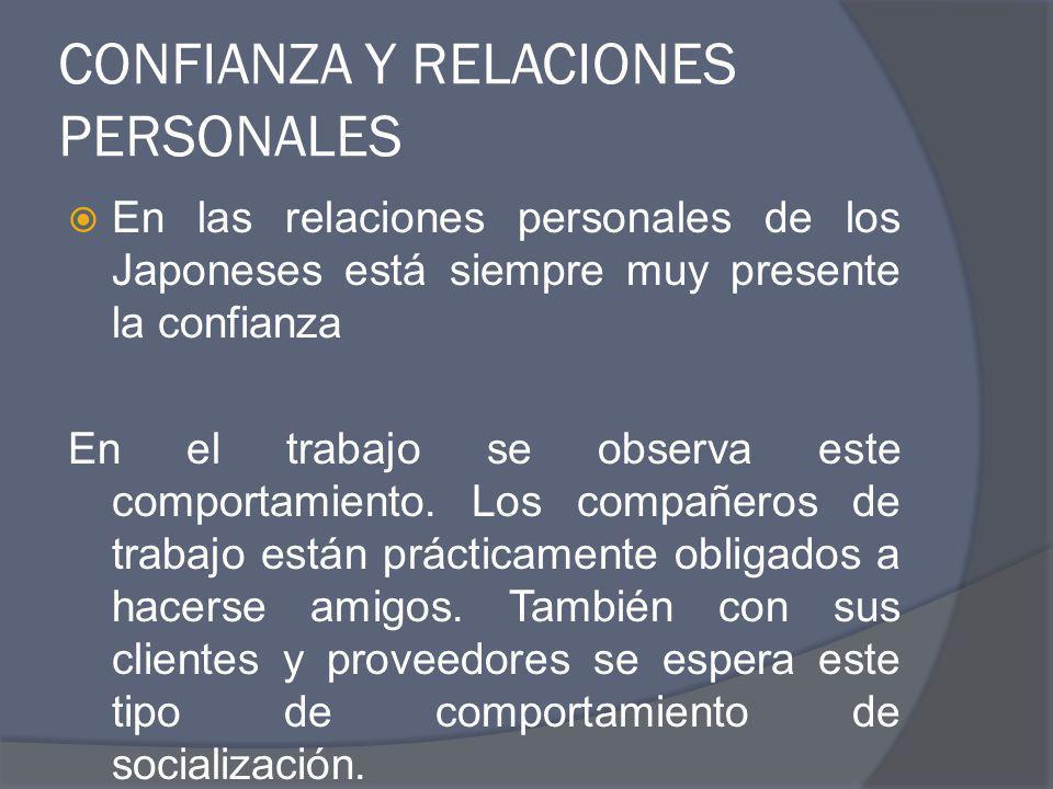 CONFIANZA Y RELACIONES PERSONALES
