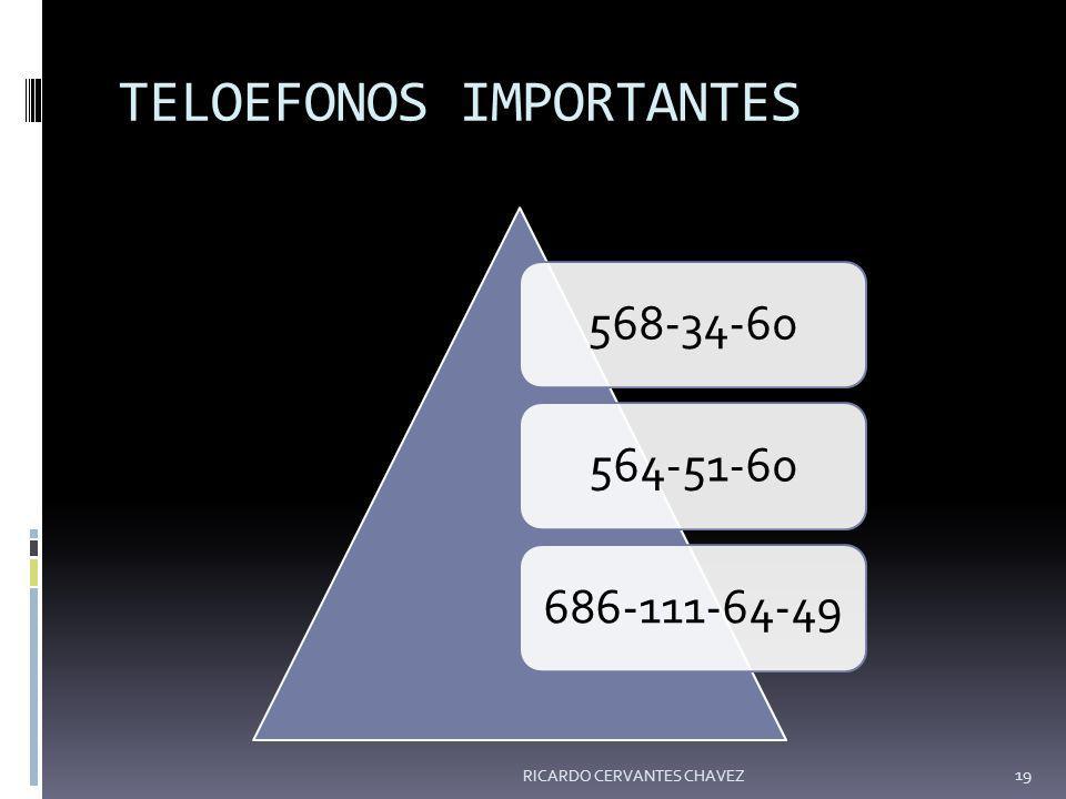 TELOEFONOS IMPORTANTES