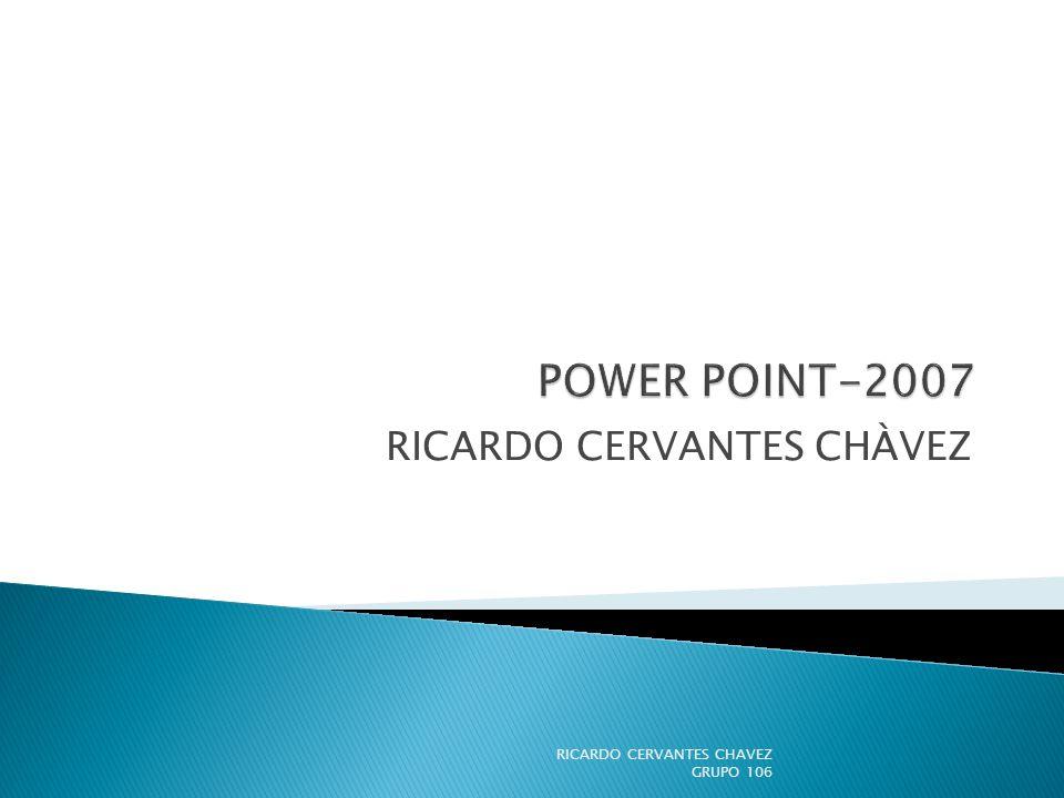 RICARDO CERVANTES CHÀVEZ
