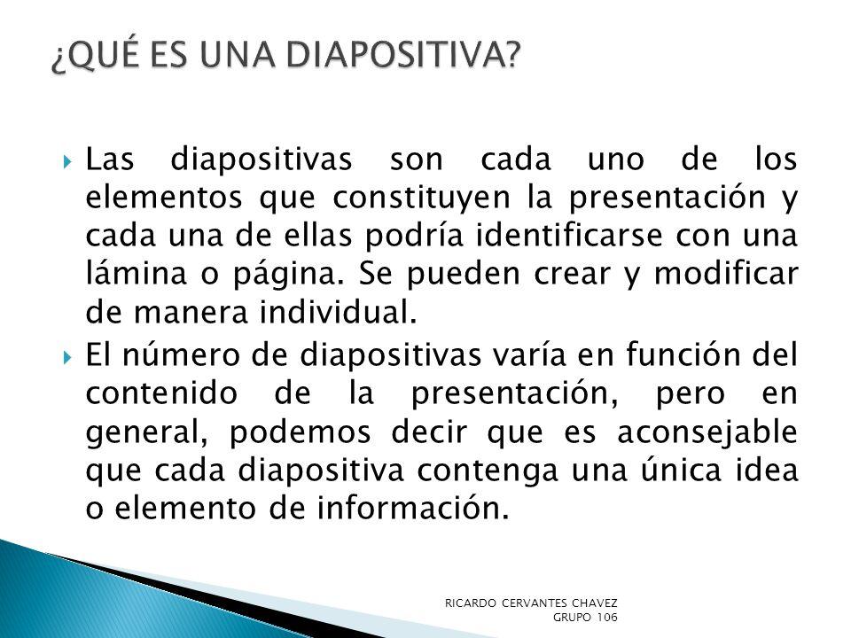 ¿Qué es una diapositiva