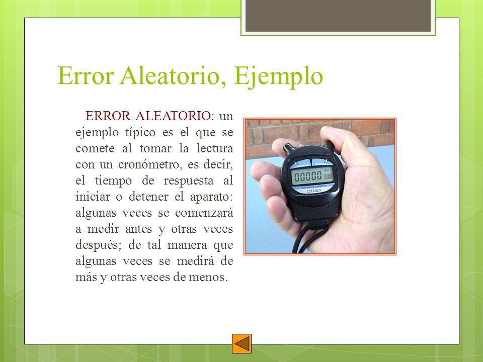 Error Aleatorio, Ejemplo