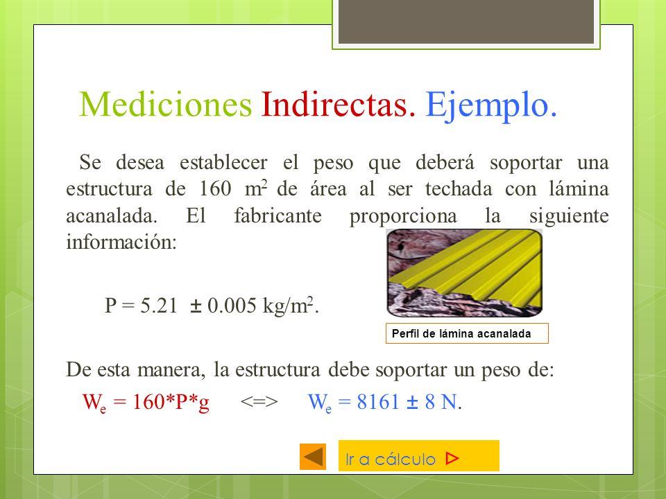 Mediciones Indirectas. Ejemplo.