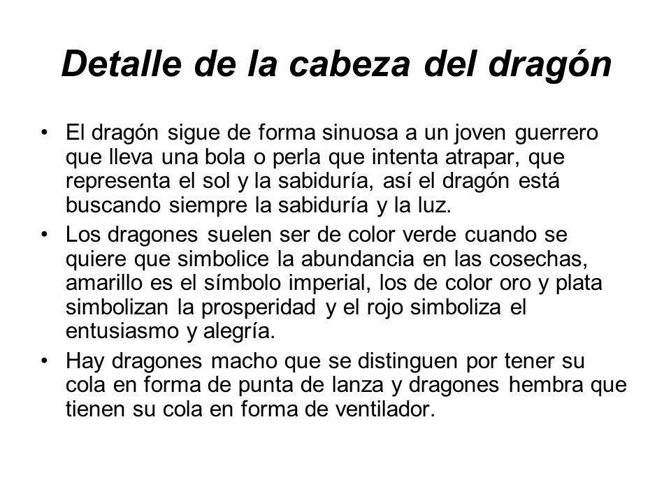 Detalle de la cabeza del dragón
