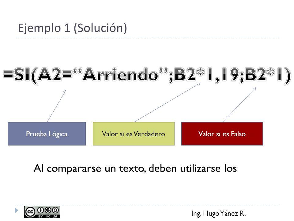 =SI(A2= Arriendo ;B2*1,19;B2*1)