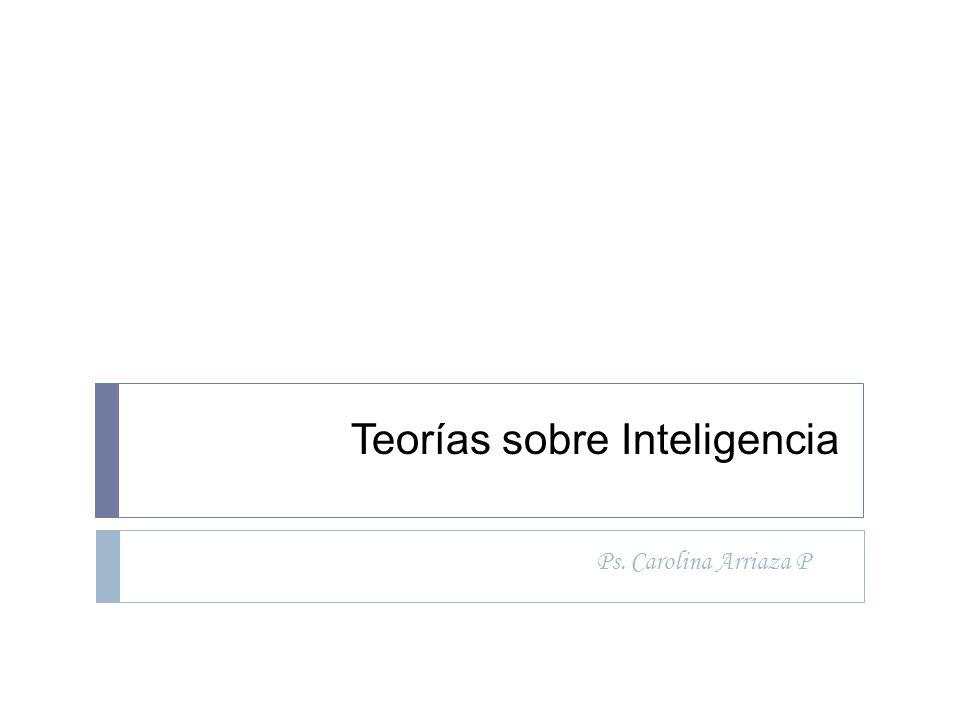 Teorías sobre Inteligencia