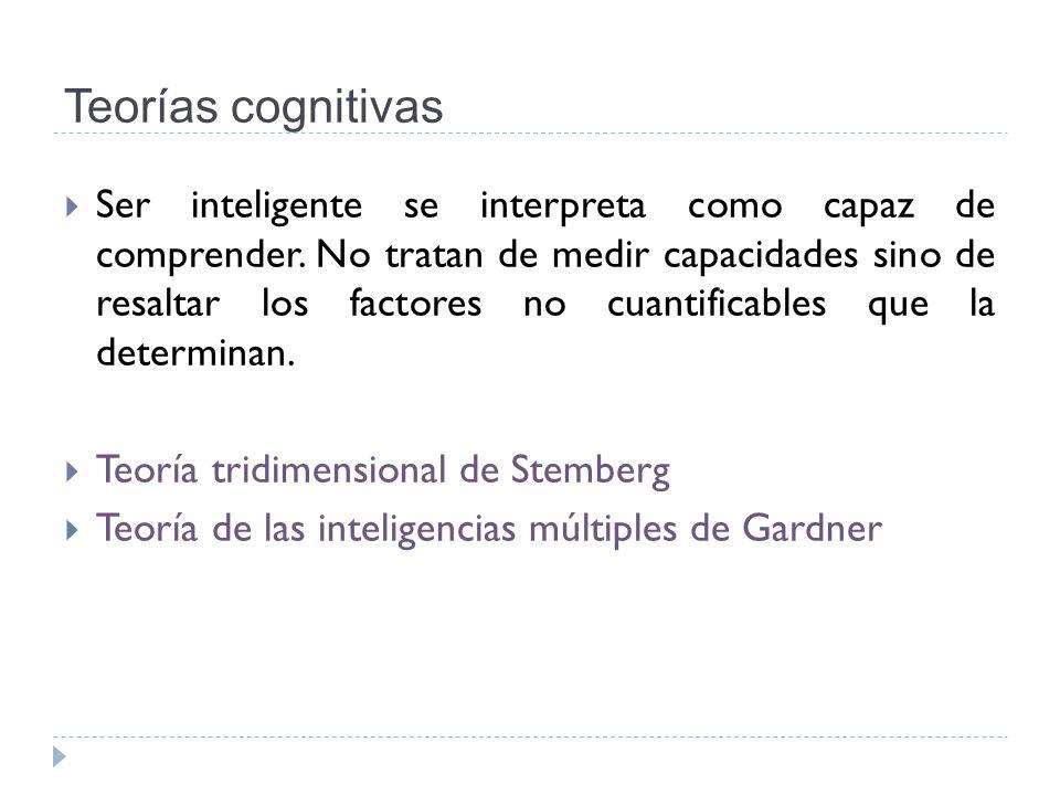 Teorías cognitivas