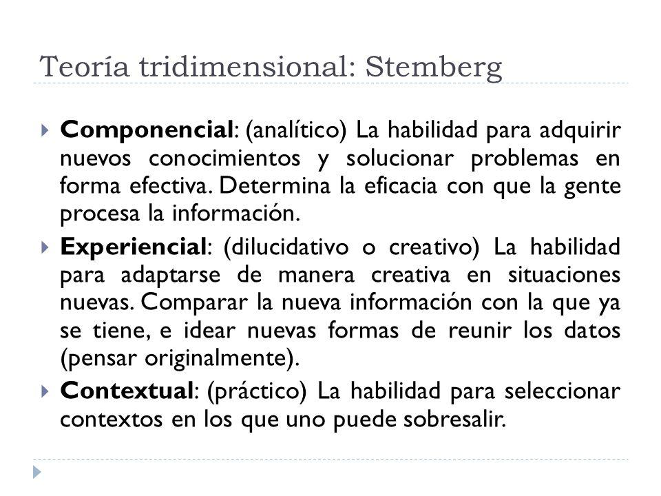 Teoría tridimensional: Stemberg