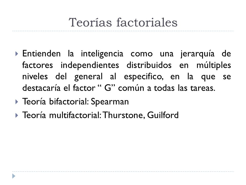 Teorías factoriales