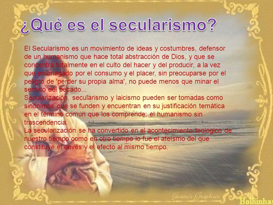 ¿Qué es el secularismo