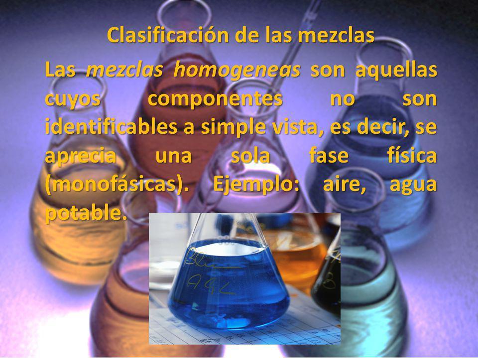 Clasificación de las mezclas