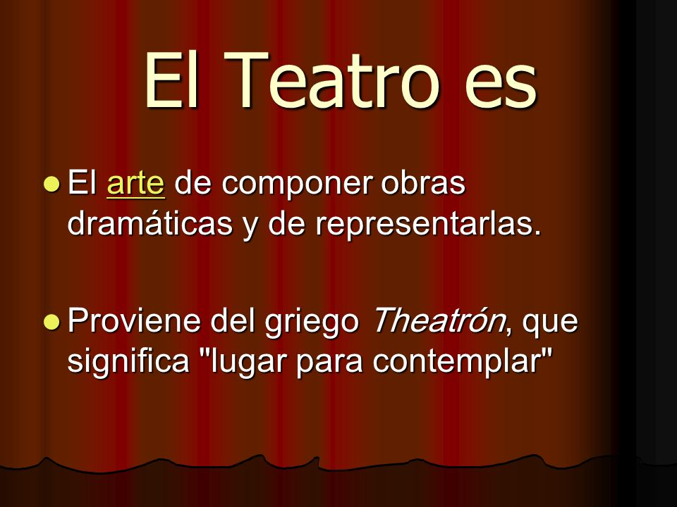 Definici n de teatro ppt descargar for Que significa espectaculo