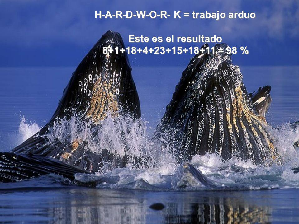 H-A-R-D-W-O-R- K = trabajo arduo