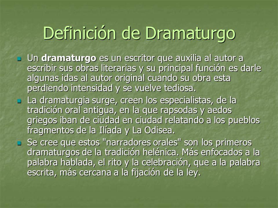 Definición de Dramaturgo