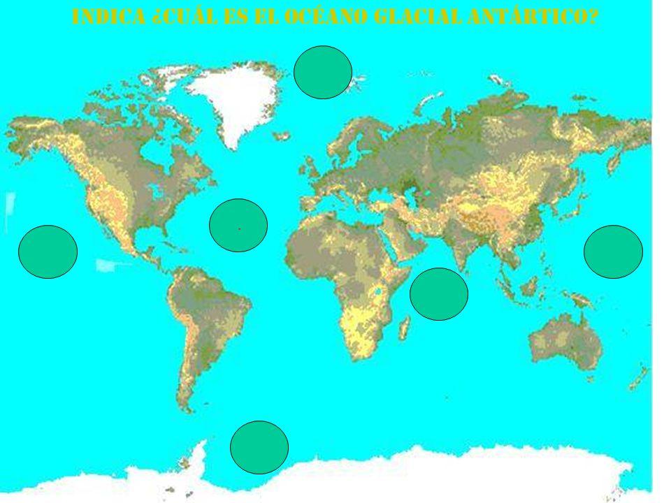 Indica ¿cuál es el Océano Glacial Antártico