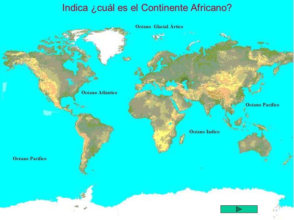 Indica ¿cuál es el Continente Africano