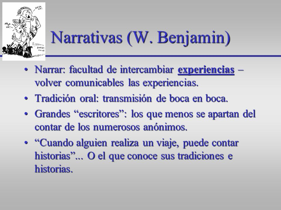 Narrativas (W. Benjamin)