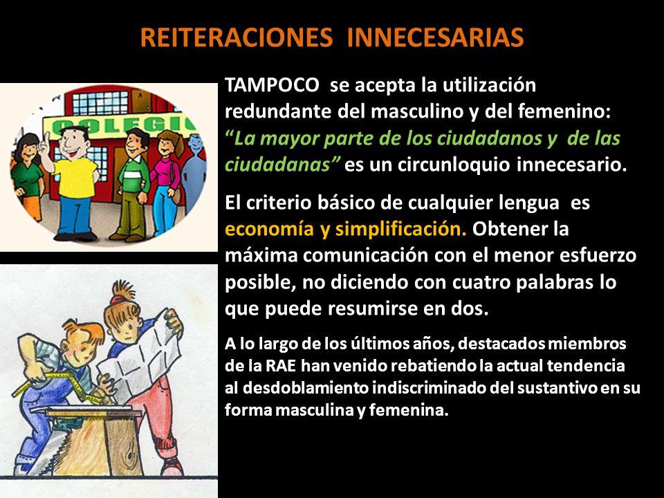 REITERACIONES INNECESARIAS