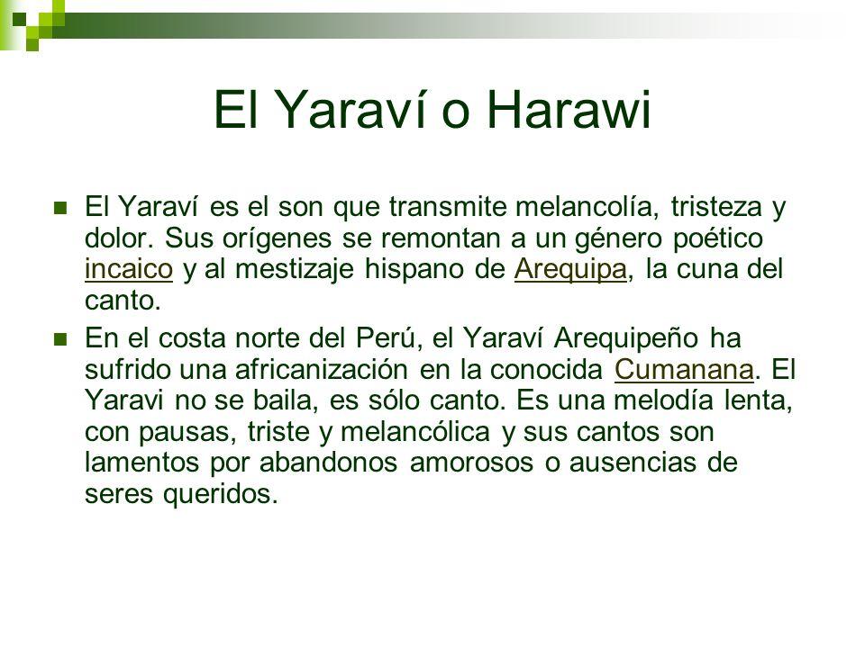 El Yaraví o Harawi