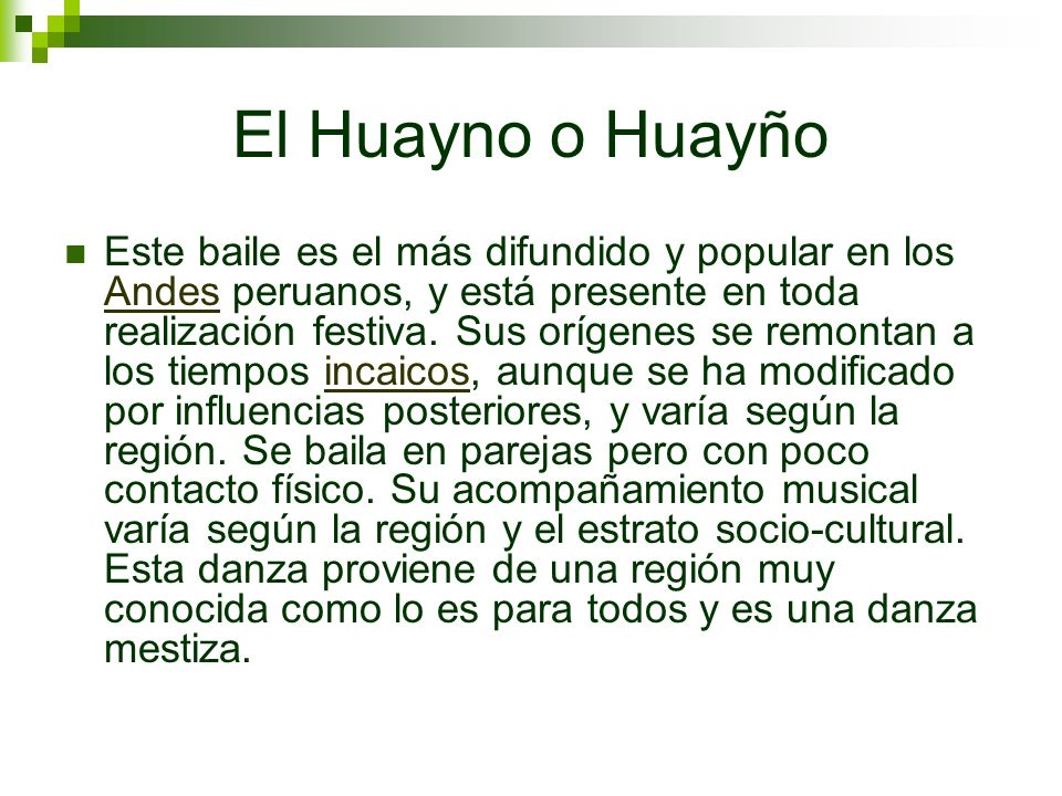 El Huayno o Huayño