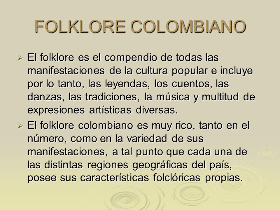 FOLKLORE COLOMBIANO