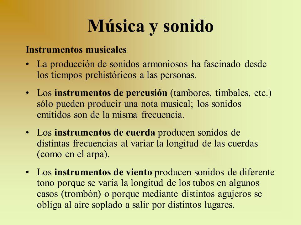 Música y sonido Instrumentos musicales